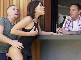 Neighbor fucked cosset anal during spare