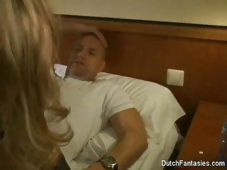 Dutch Maid Fucks Hotel Zone Guest!