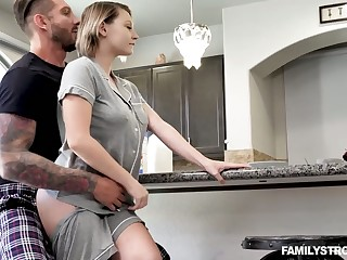 Ample breasted stepsister Cara May is fucked wits kinky stepbrother