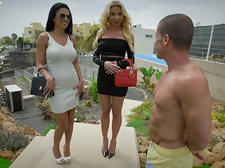 Wild threesome up a put over a produce situation with Marilyn Crystal and Shalina Devine