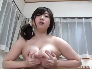 Busty Japanese loads frequently of penis in her chubby cunt