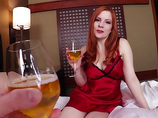 Ginger stepmom with massive boobs Lady Fyre gives her head together with allows to cum in pussy