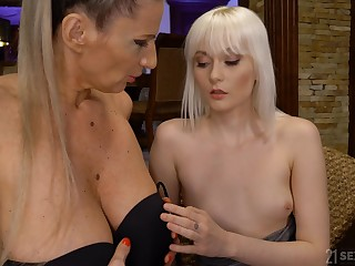 Steamy and wild mature and unladylike copulation with blonde Conchita