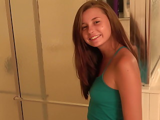 Carolina sweets teen bj fresh from the shower